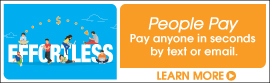 People Pay lets you pay anyone in seconds by text or email. Click here to learn more.