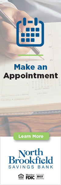 Make an appointment Learn More North Brookfield Savings Bank