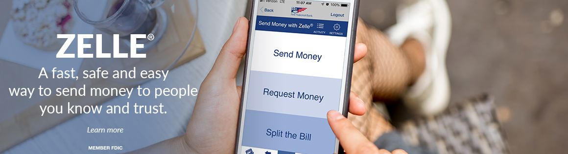A fast, safe and easy way to send money to people you know and trust. Click here to learn more. Member FDIC