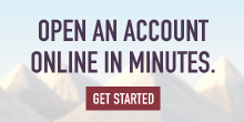 Open an account online in minutes.