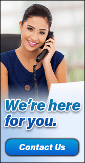 Picture depicting a woman answering phone.  We're here for you.  We remain open and ready to assist you with your financial needs.  Contact us.  Learn more.   Equal Housing Lender.  Member FDIC.