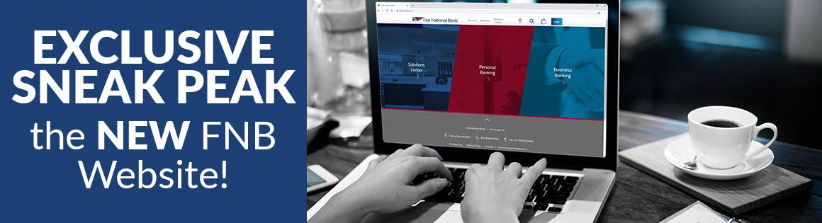 exclusive sneak peak, the new fnb website!