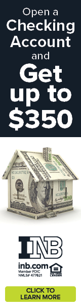 Open a Checking Account and get up to $350.  Click to learn more.   INB inb.com Member FDIC
