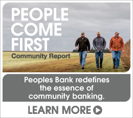 People Come First.  Peoples Bank redefines the essence of community banking.  Click here to learn more and read our 2018 Community Report.