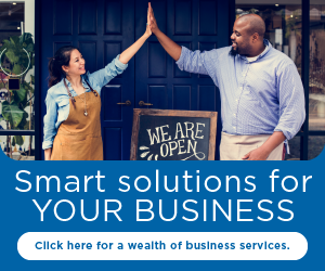 Smart solutions for your business. Click here for a wealth of business services.