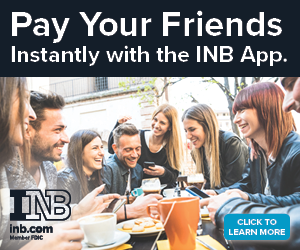 Pay your friends instantly with the INB app.  Click to learn more.   INB inb.com Member FDIC