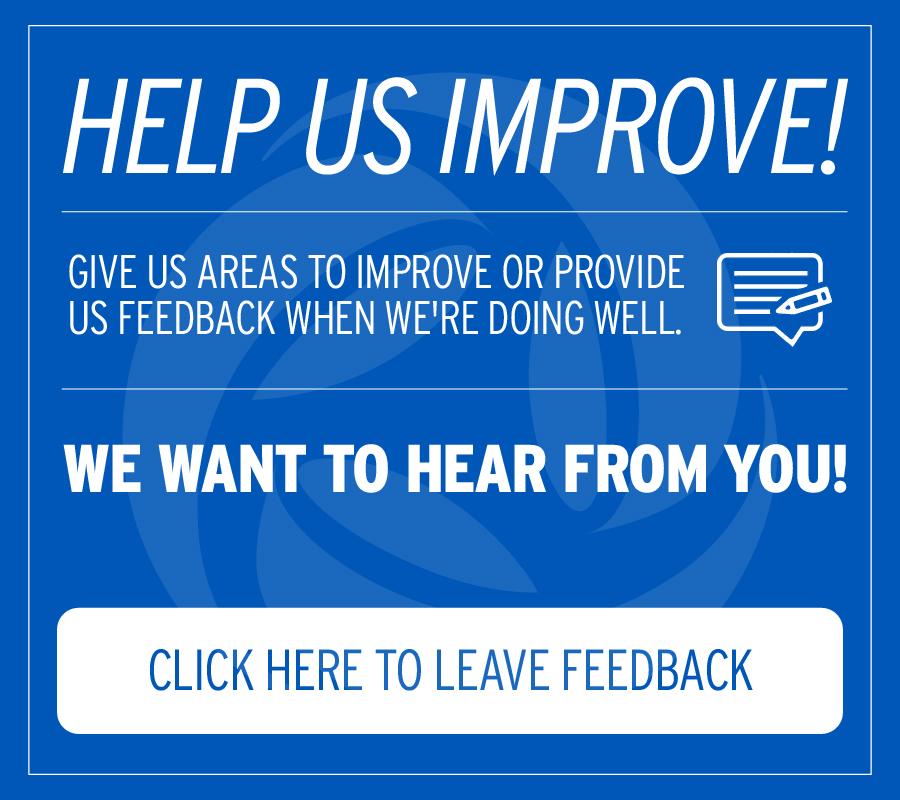 Help us improve by providing feedback