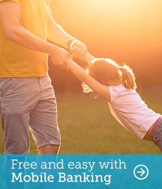 Free and easy with Mobile Banking.  Learn more.
