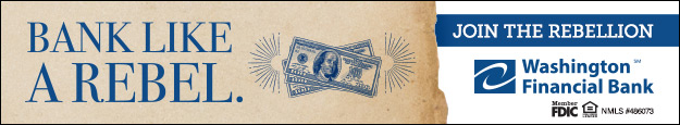 Bank like a rebel and join the rebellion at Washington Financial Bank.