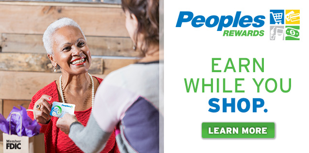 Peoples Rewards.  Earn while you shop.  Click here to learn more.