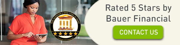 Rated 5 Stars by Bauer Financial. Click to Contact Us.